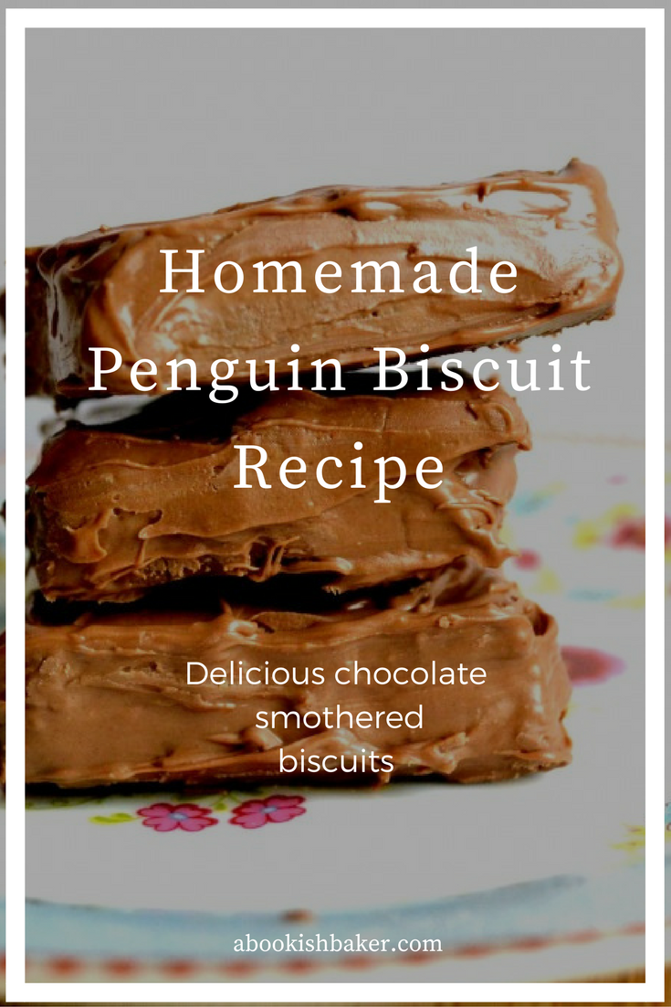 delicious penguin biscuits. Chocolate smothered biscuits.