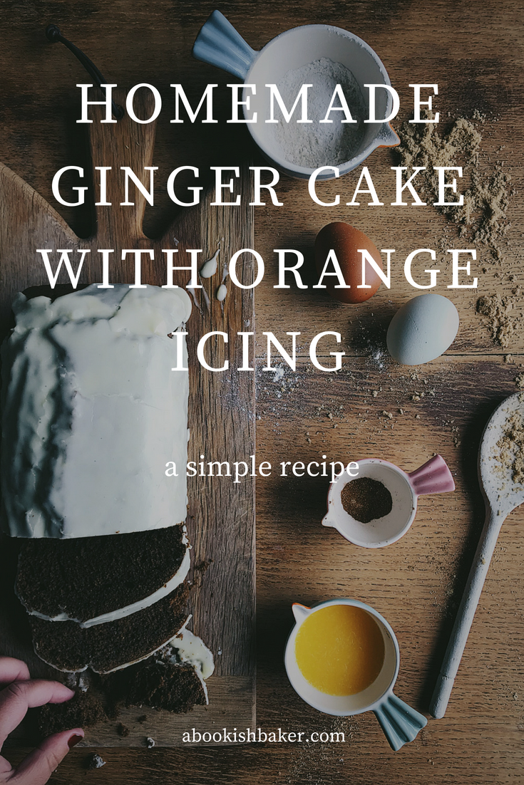 Homemade Ginger Cake with Orange Icing