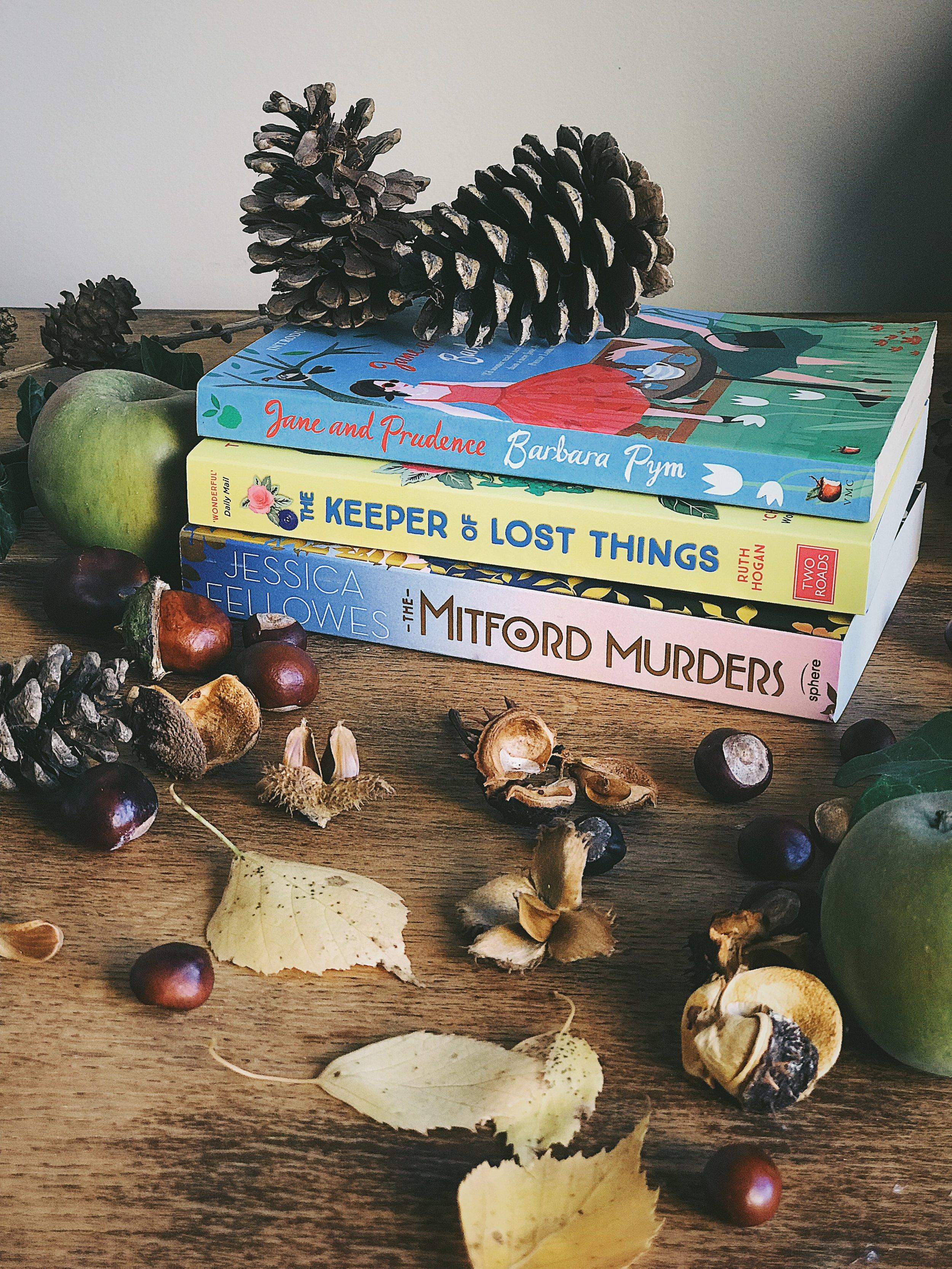 my september reading list | Barbara Pym, Ruth Hogan and Jessica Fellowes