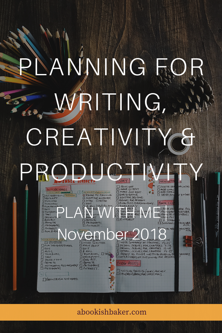 PLAN WITH ME | November 2018 | Planning for writing & creativity
