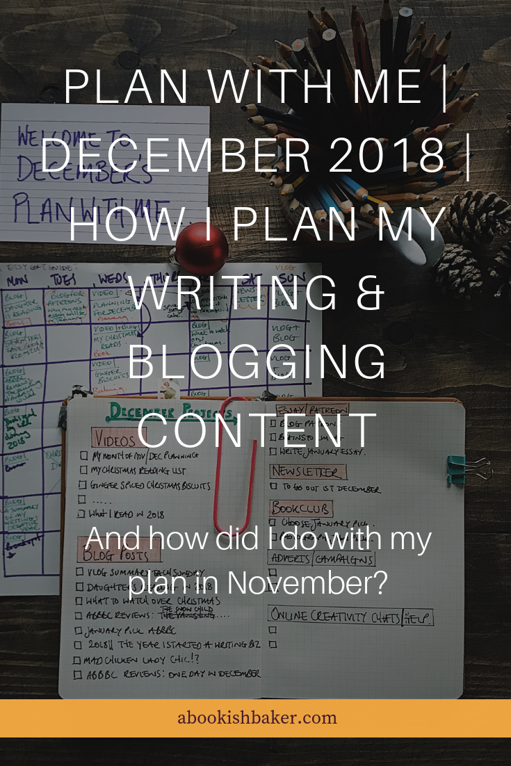PLAN WITH ME | December 2018 | How I plan my writing & blogging content