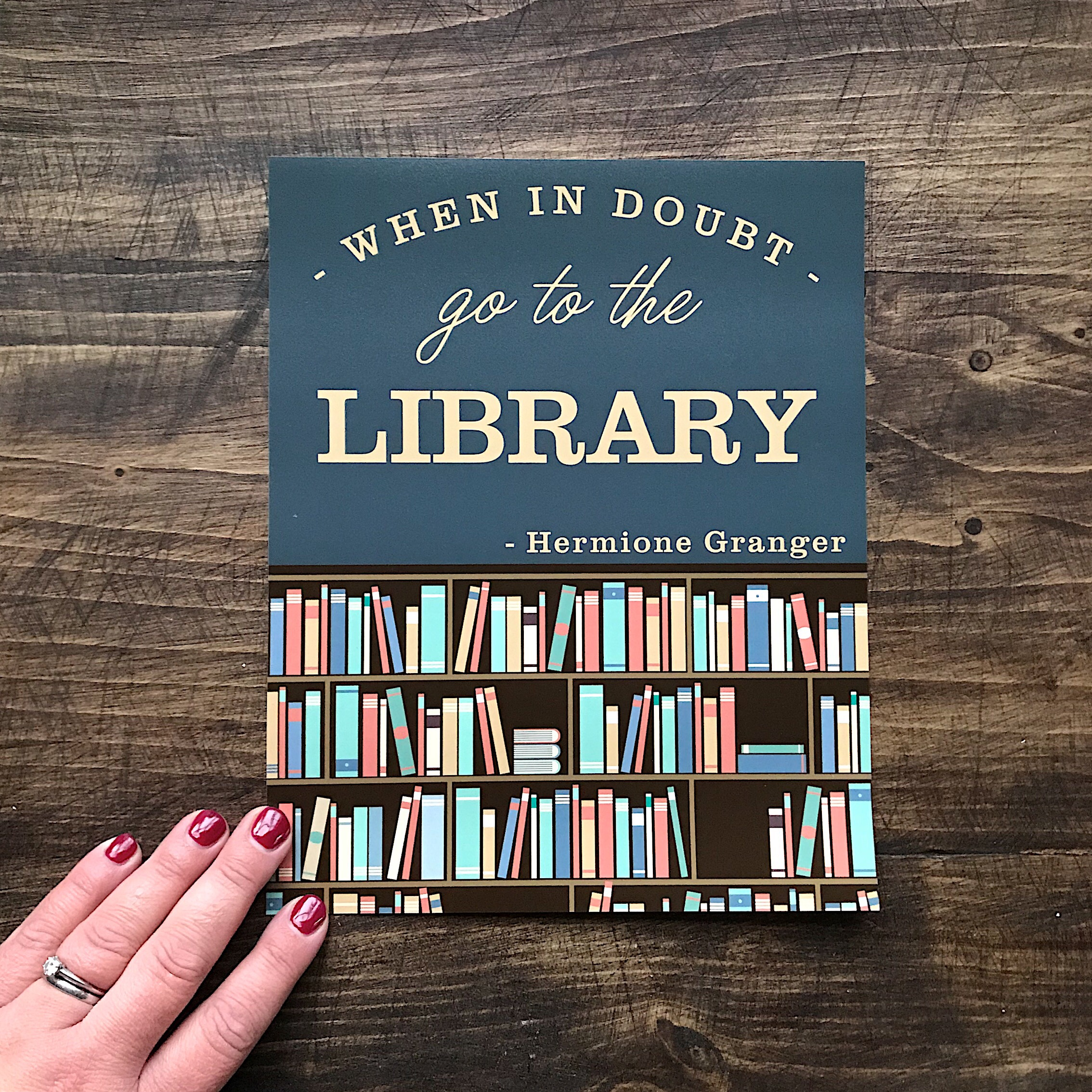 Harry Potter when in doubt go to the library print