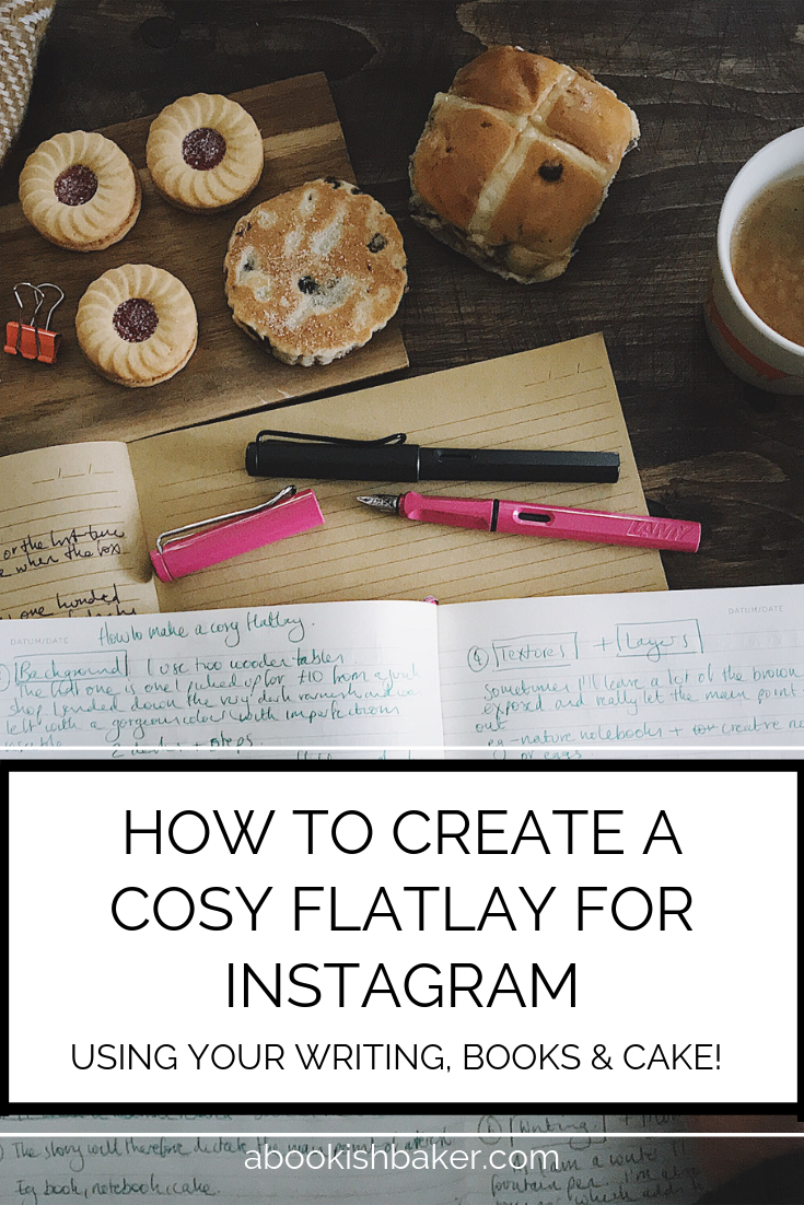 how to create an Instagram flatlay to give a cosy feel to your Instagram feed.