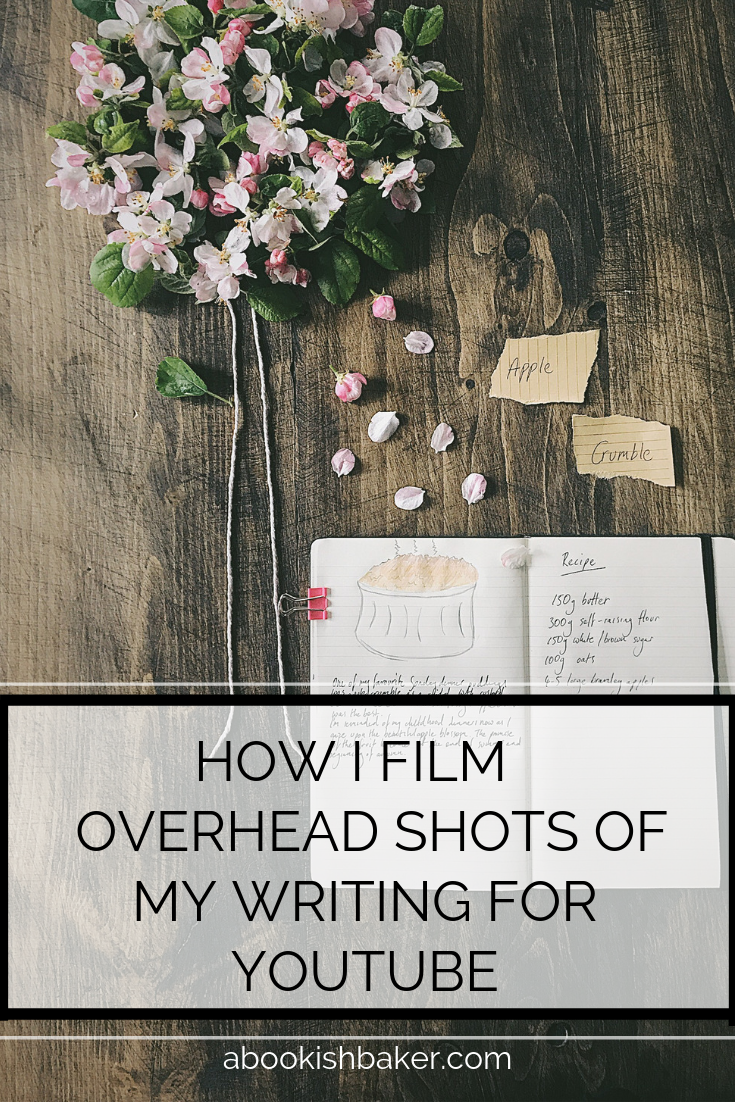 How I film overhead shots of my writing for YouTube