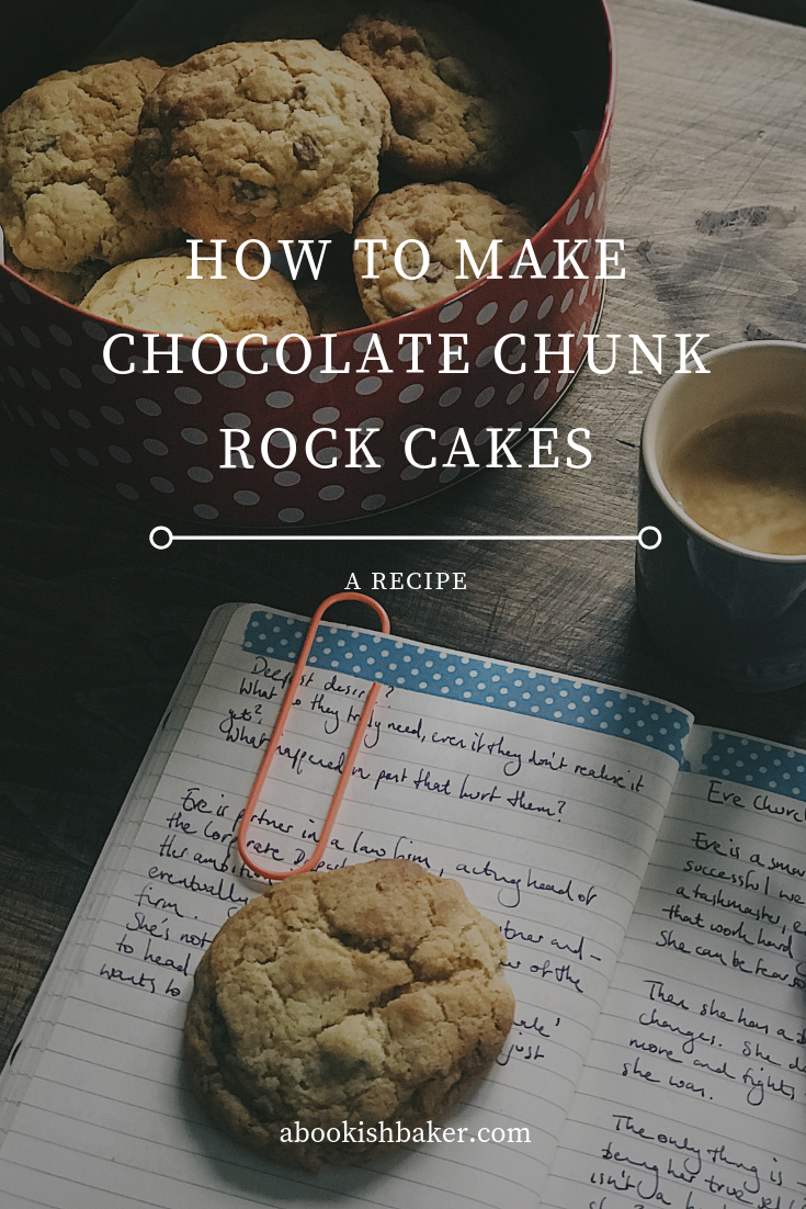 how to make chocolate chunk rock cakes. A simple and easy recipe with milk chocolate chunks and a dash of vanilla. #baking #cake #recipes