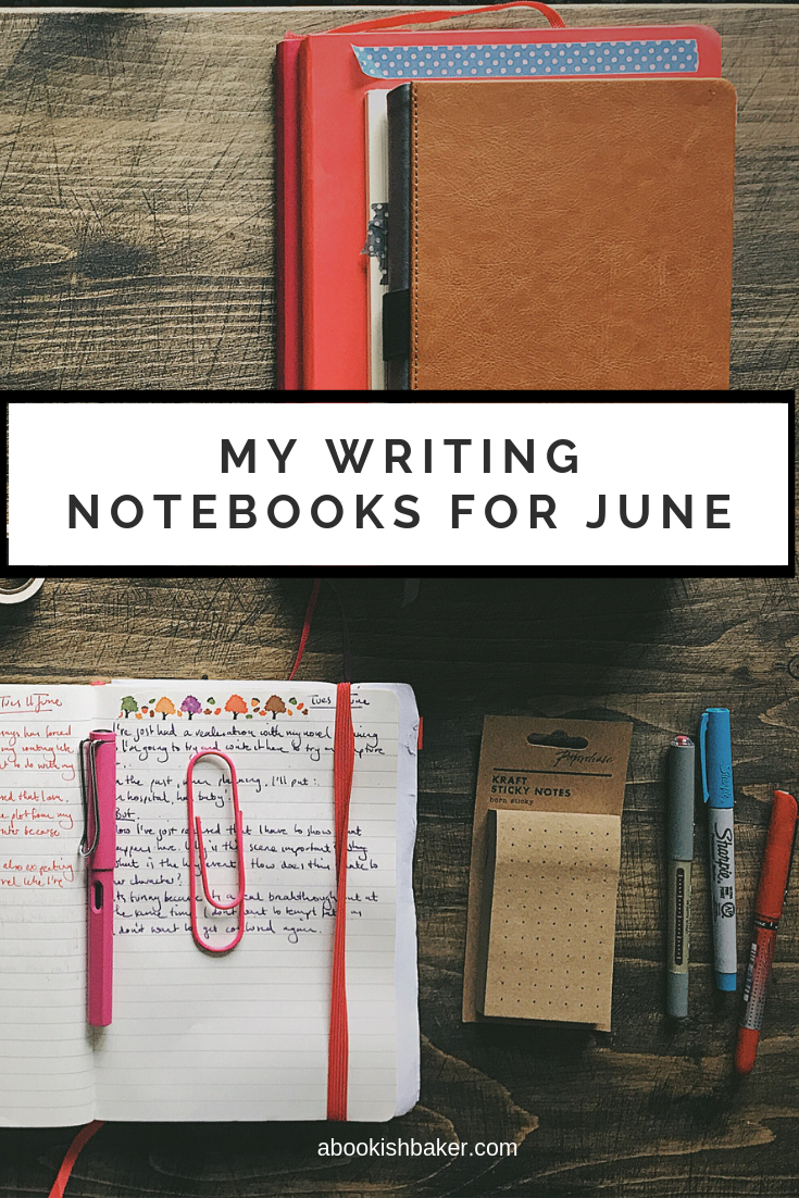 My Writing Notebooks in June.