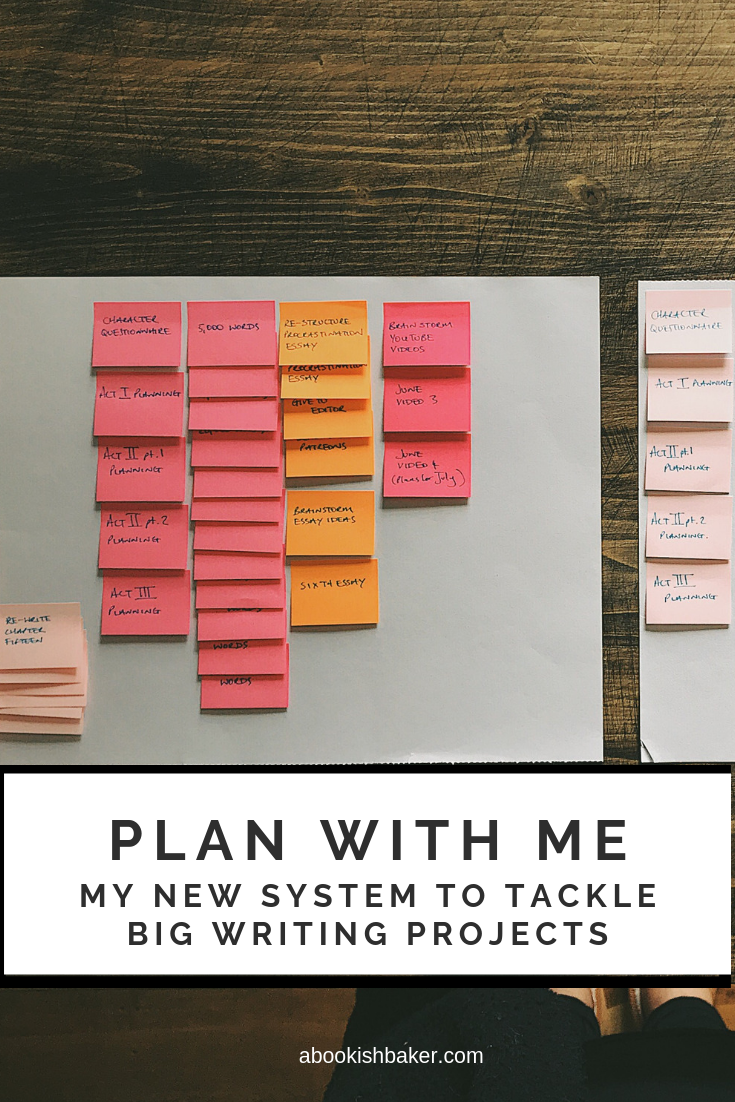 PLAN WITH ME: My new system to tackle big writing projects.  My writing life has been revolutionised in the past few weeks. I have discovered a system of tackling my writing and creative goals which has allowed me to make indentations into my big, overwhelming, writing projects.