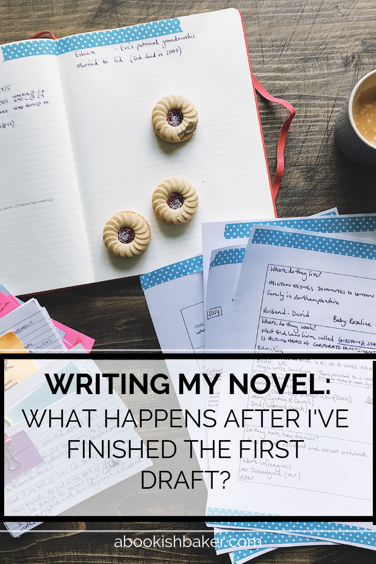Writing my novel: What happens after I've finished the first draft?