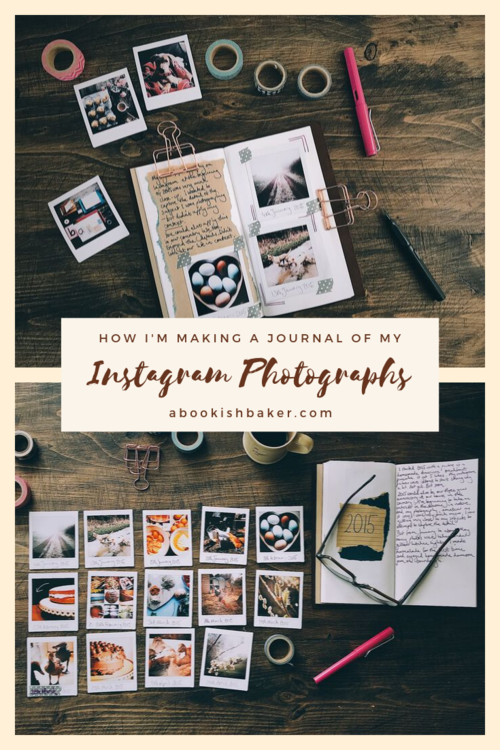 How I'm Creating a Journal of my Instagram Photographs #travelersnotebook #journaling