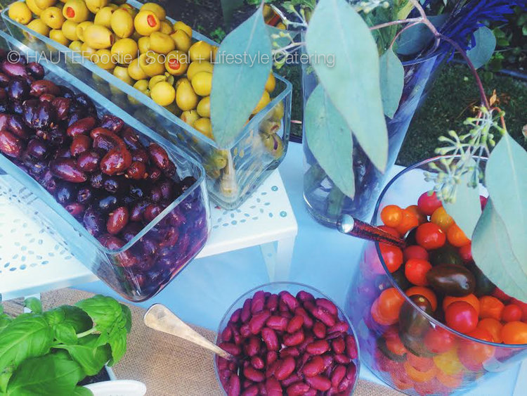 Salad Buffet Display