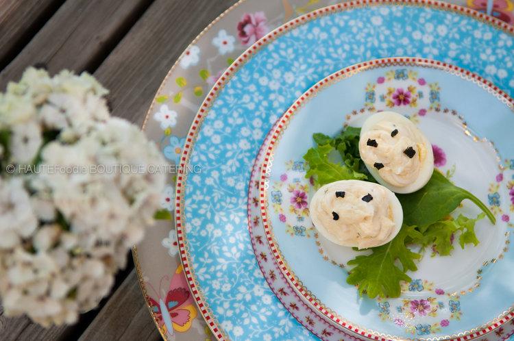 Deviled Eggs with Smoke Eel + Rye