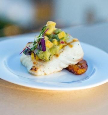 Seabass with Fresh Mango Salsa