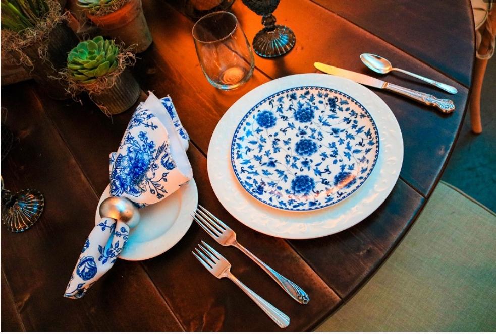 Scottsdale Party Rental Dishes Blue China TRUFFL.jpg