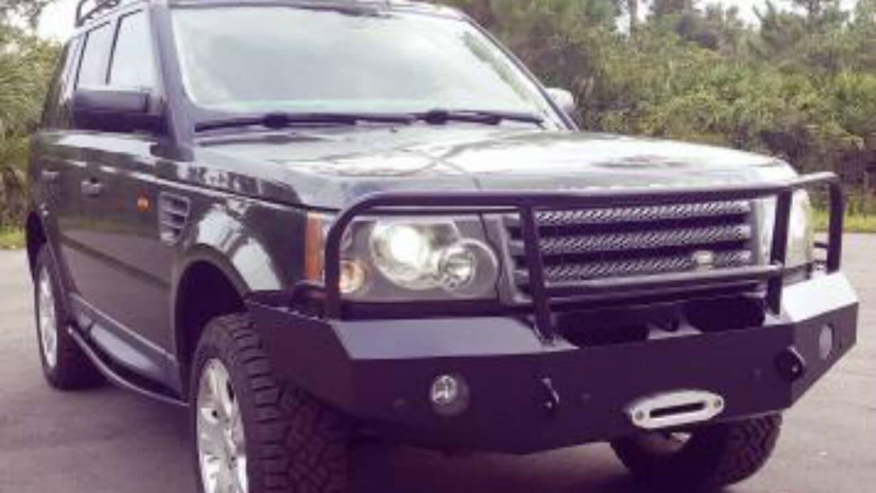 Land-Rover-Range-Rover-Sport-voyager-front-winch-bumper-off-road-brush-bar-rock-sliders-Voyager-Offroad