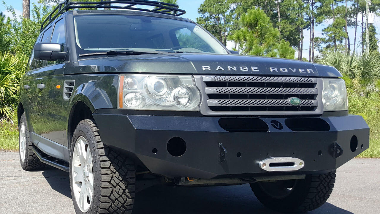 Land-Rover-Range-Rover-Sport-voyager-front-winch-bumper-rock-sliders-Voyager-Offroad