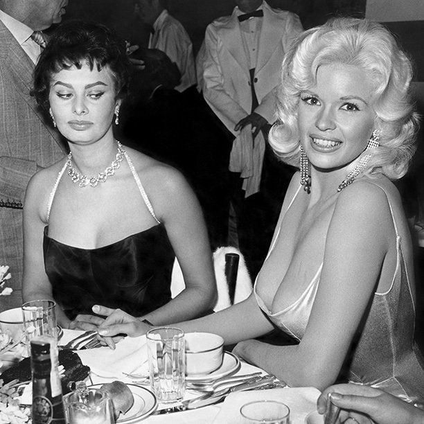 sophia loren jayne mansfield mean side eye hollywood classic