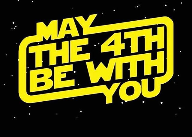 And also with you. Happy Star Wars Day! #maytheforcebewithyou