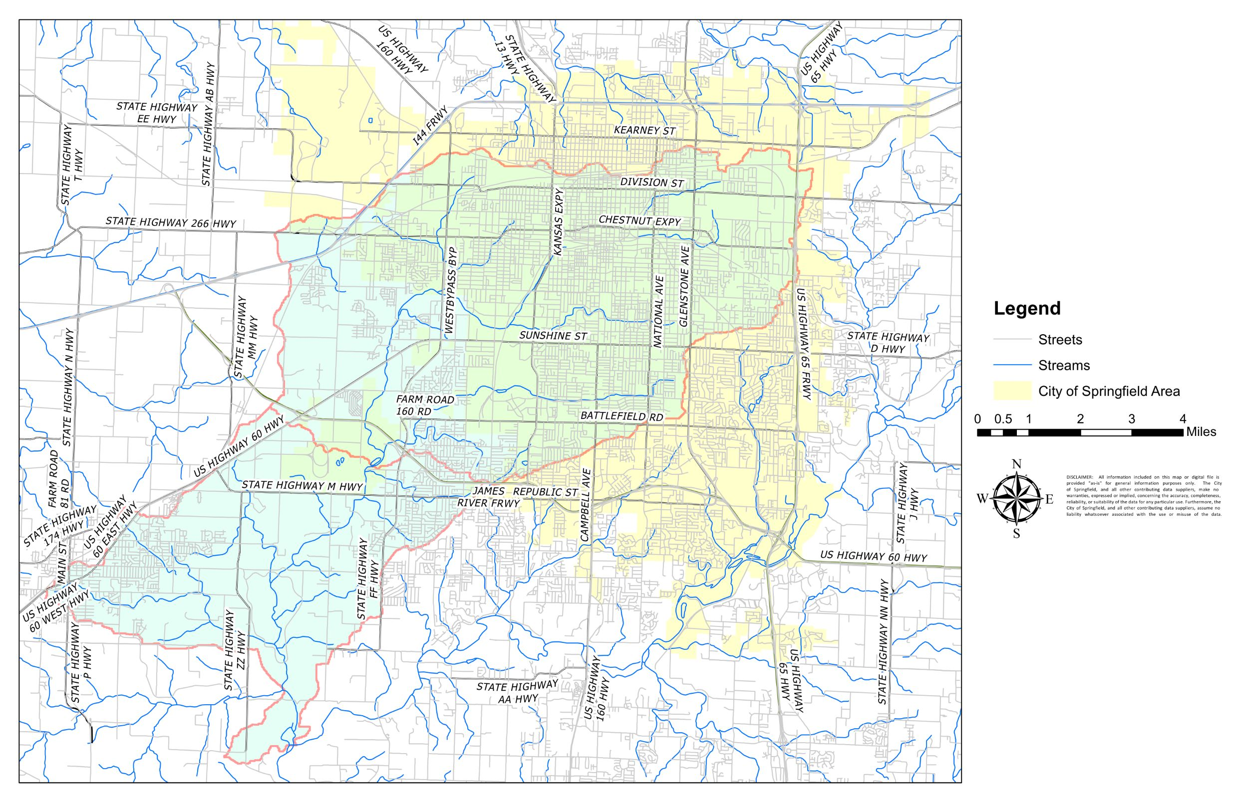(The Wilsons Creek Grant Project area is outlined in red.)