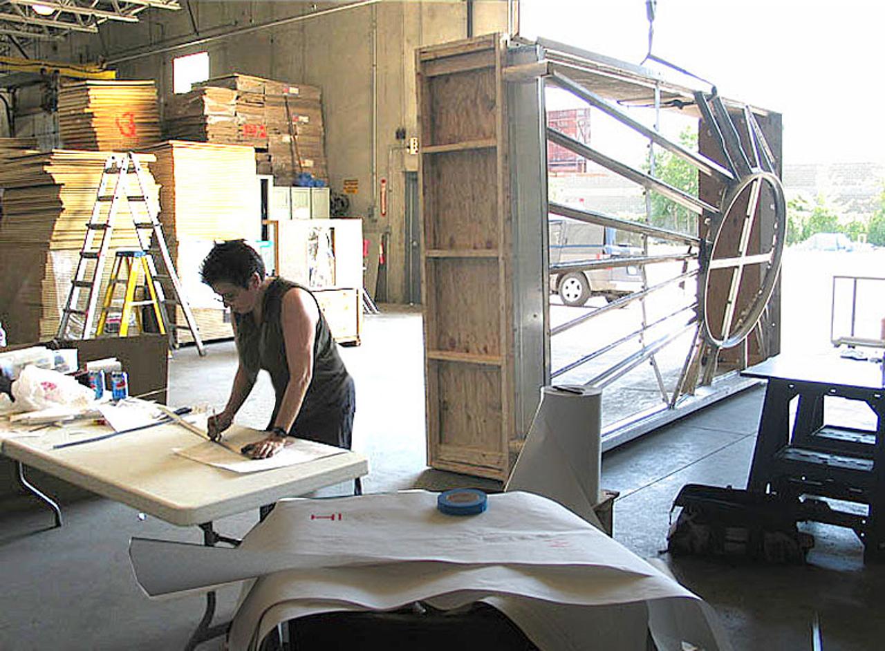Artist Working on Window Templates