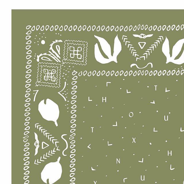 Corner of a bandana design ⠀⠀⠀⠀⠀⠀⠀⠀⠀ #graphicdesign #printdesigner #littleroaddesigns #littleroadstudio #fwportfolio #calledtocreate #creativeprocess #artistmom