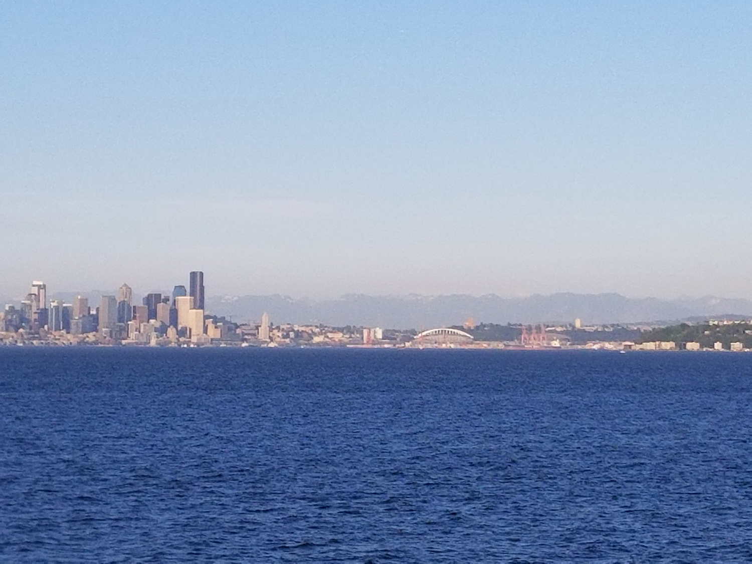 Leaving Seattle on the ferry