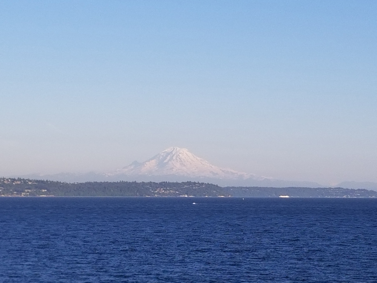 View of Mt. Rainier from the ferry