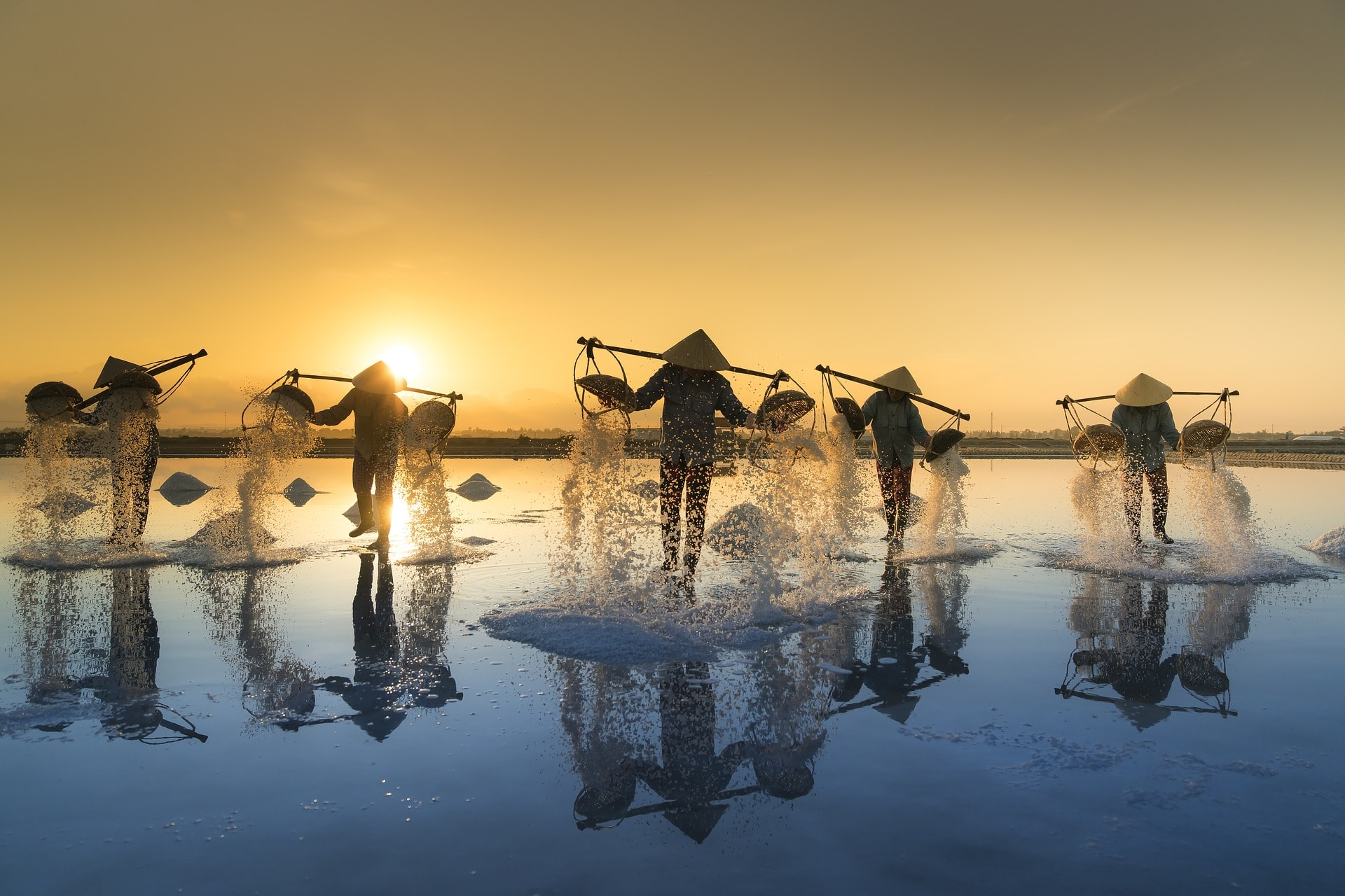 Vietnamese Salt Farmers