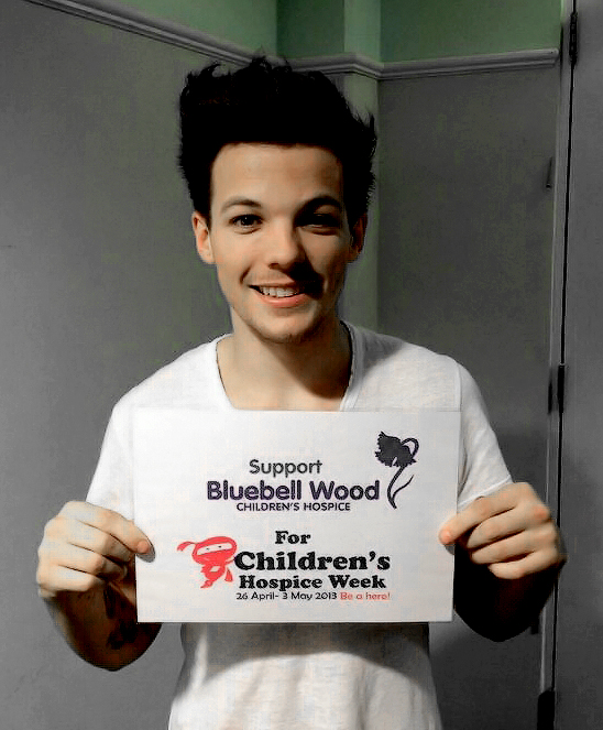 Louis Tomlinson for Bluebell Wood Children's Hospice (2013).