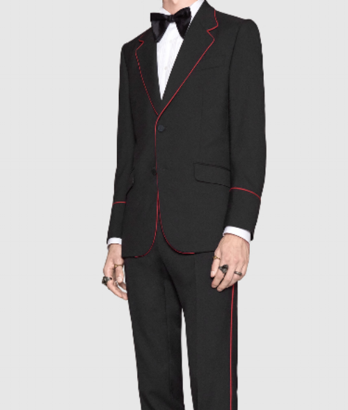 Heritage Tuxedo with Red Piping  | Gucci | $2,900