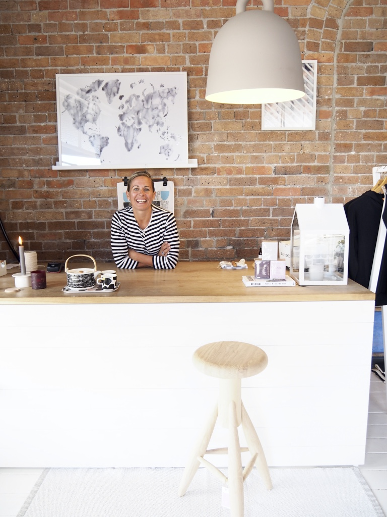 The owner of Pappa Sven, the lovely Libby. Go visit her gorgeous Nordic homewares store Pappa Sven, a short stroll from the cottage. Pic Sheriden Rhodes
