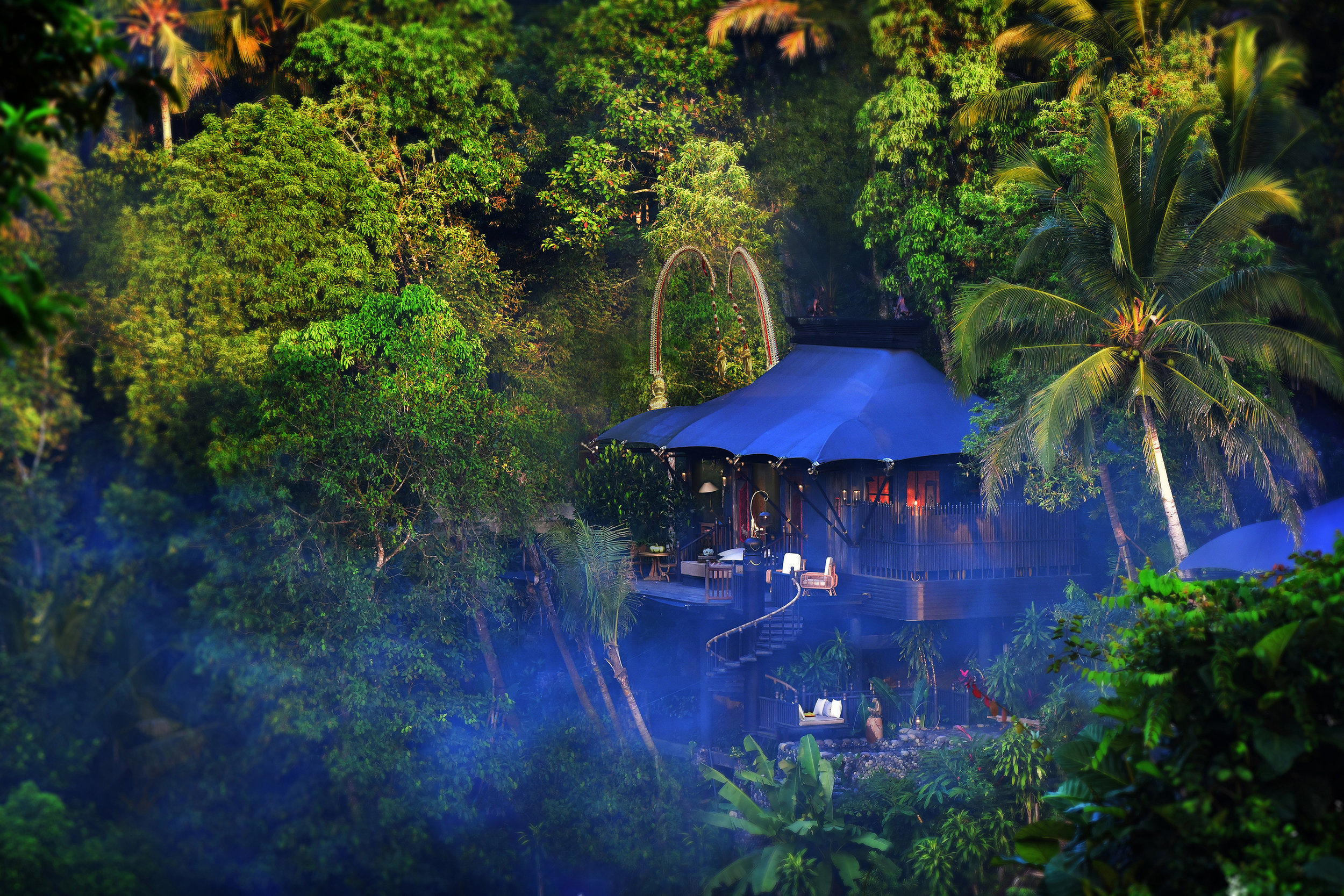 One of 23 luxe tented retreats at the new Capella Ubud. Pic supplied. Gallery pics: Sheriden Rhodes and Tom Szecsodi.