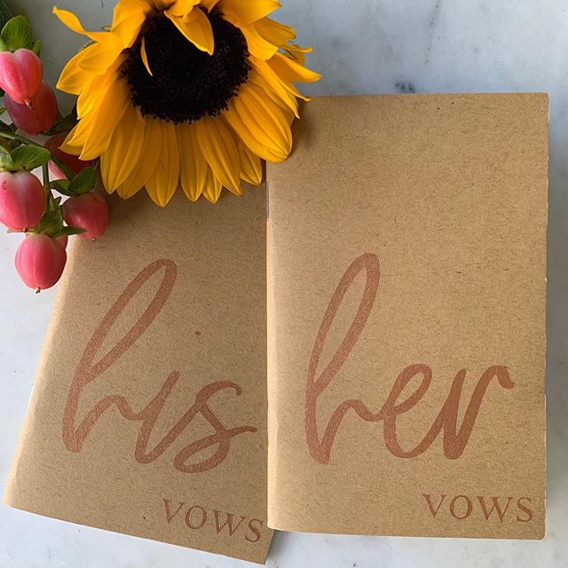 N E W  P R O D U C T ! only have 15 sets in stock so message me today to claim yours! • copper metallic lettering on kraft unlined pocket notebooks for your wedding vows. available sets include: his + his, her + her, and his + her. • $25 for a set including shipping anywhere in the US. • #vows #vowrenewal #weddingvows #vowbooks #weddingwire #wedding #weddingdecor #weddingdetails #weddinginspo #weddingplanner #weddingplanning #weddingday #sunflowers #marble #flatlay #hisandhers #hisandhis #hersandhers #samesexwedding #samesexmarriage #marriage #bride #groom #jphannypackdesigns