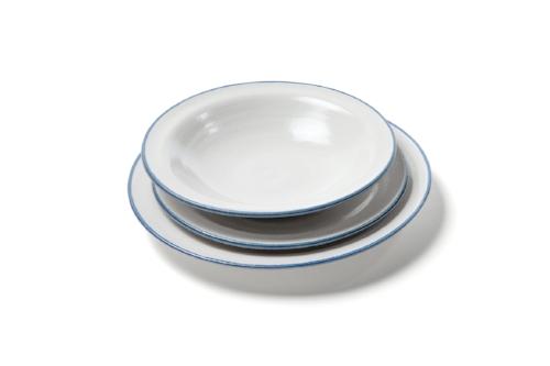bistro: tableware in tin white/blue