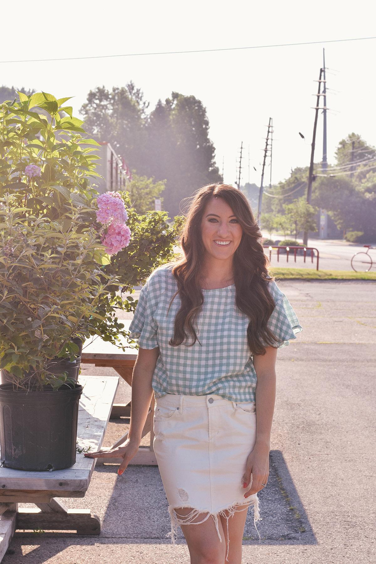britt emery // lily & sparrow summer gingham