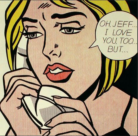 """Image Description: Lichtenstein's """"Oh, Jeff."""" Image Attribution:  Jennifer Mei  on flickr"""