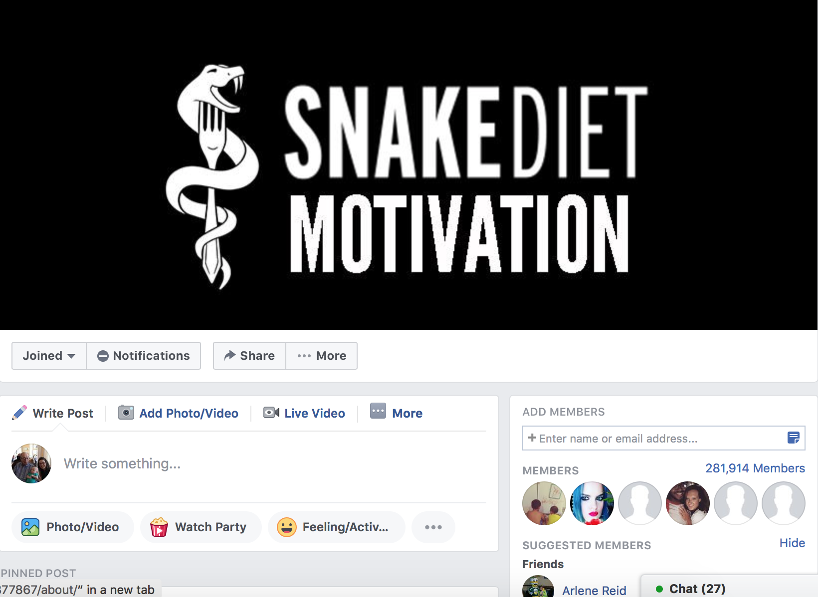 Over 280,000 Strong - The online Snake Diet Motivation community spans the globe. It will provide you will the motivation you need to succeed.