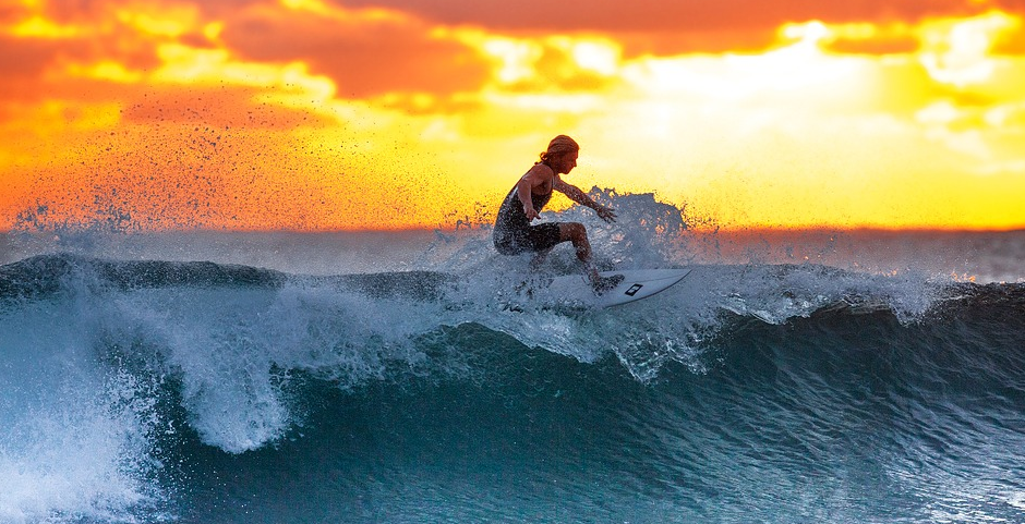 Surfing for me is about riding the cosmic energy of life