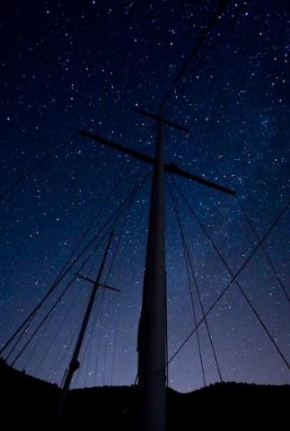 Sailing at night...