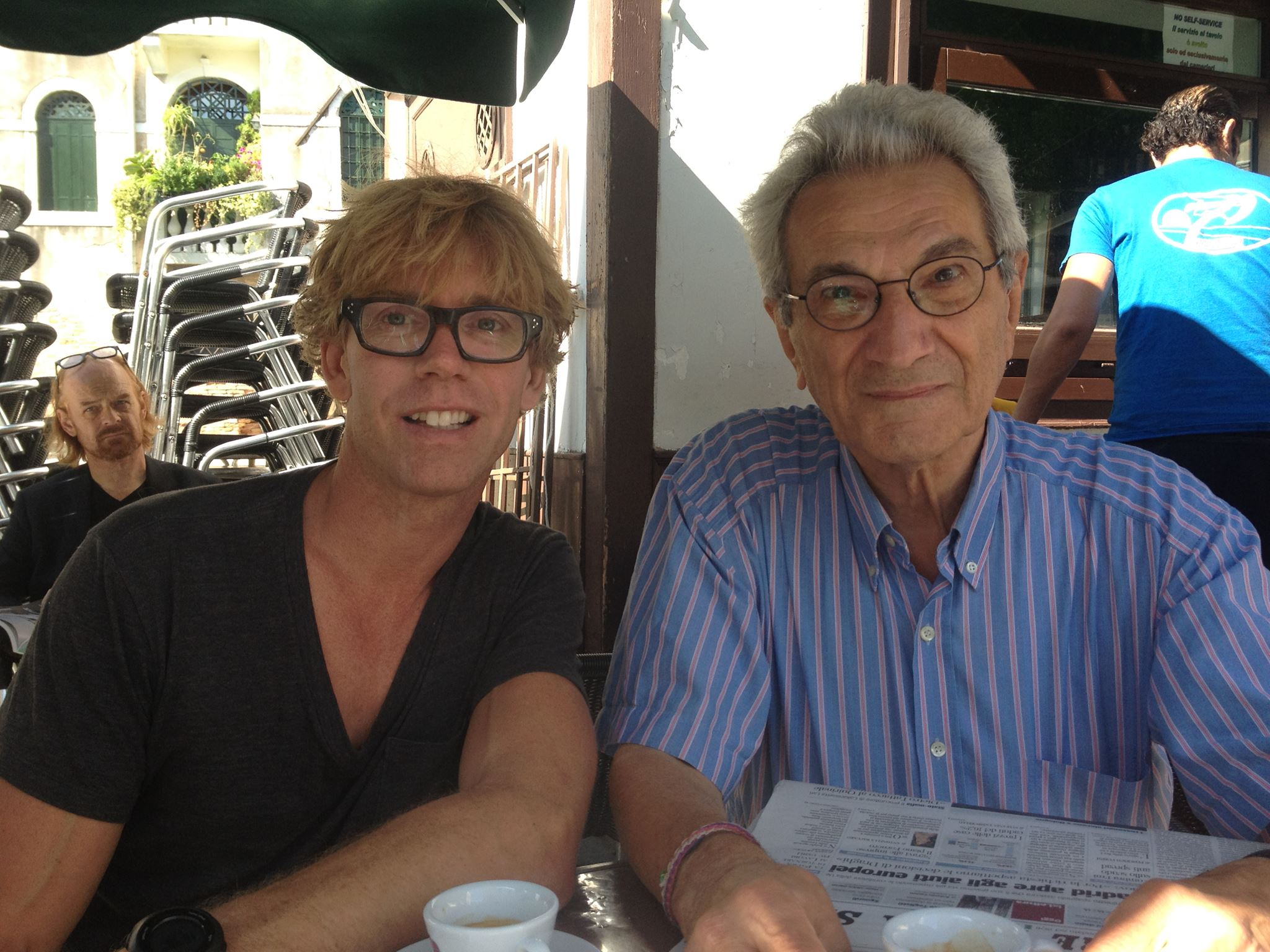 In Venice with Antonio Negri - We are about to shoot a scene
