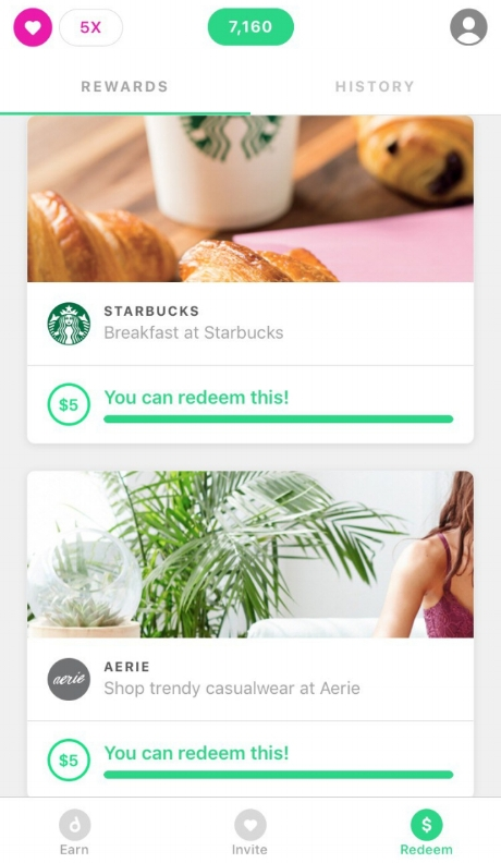 A snippet of potential rewards you can redeem with Drop. They can range from $2 - $50 in value for retailers like Swiss Chalet, Apple, and Best Buy.