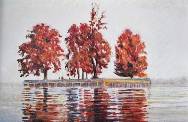 Dal Lake, Kashmir, in Fall