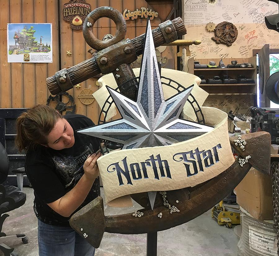 Hailey Finishing North Star Sign