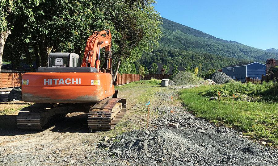 A machine on-site.