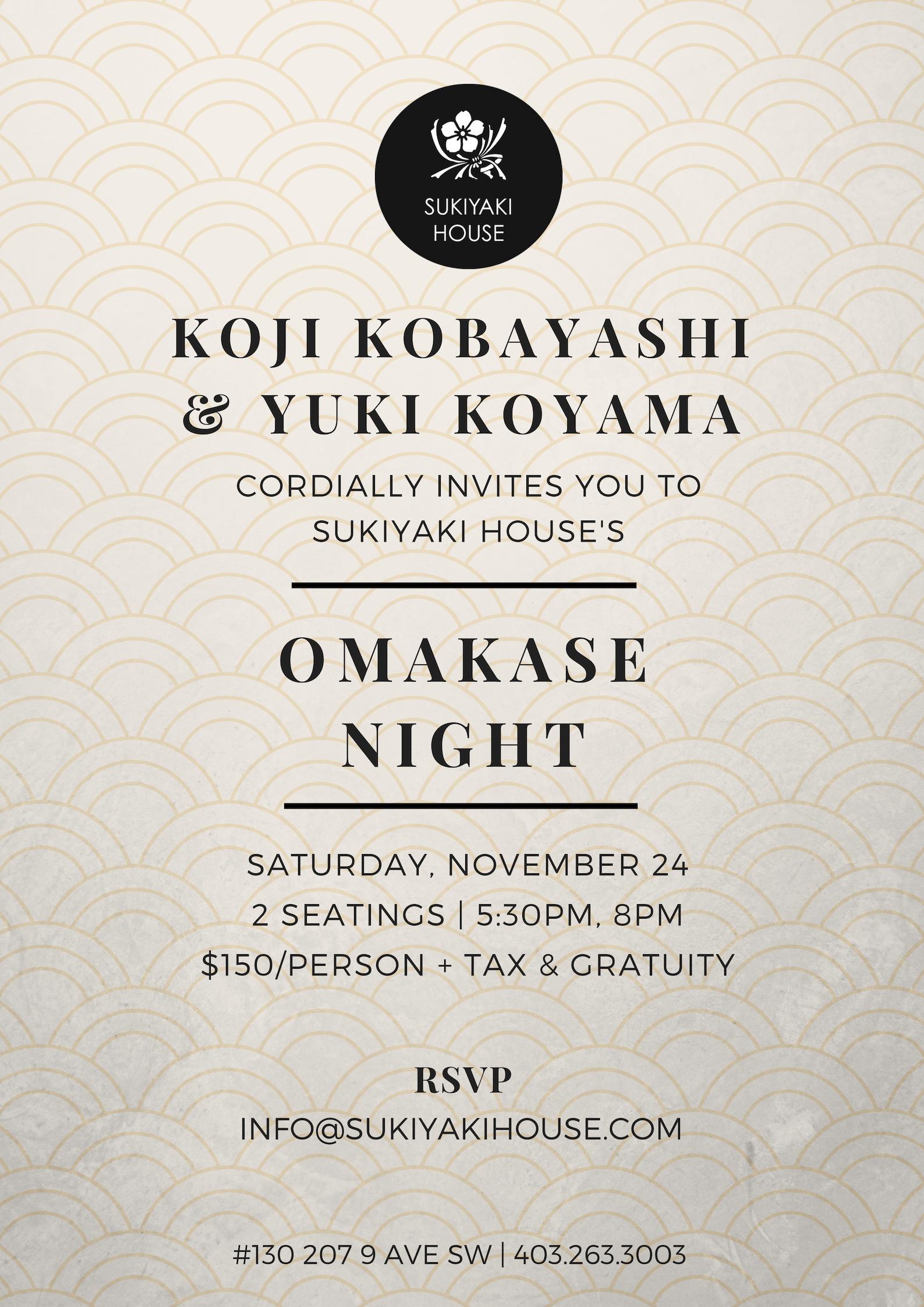 Sukiyaki House - Omakase Night