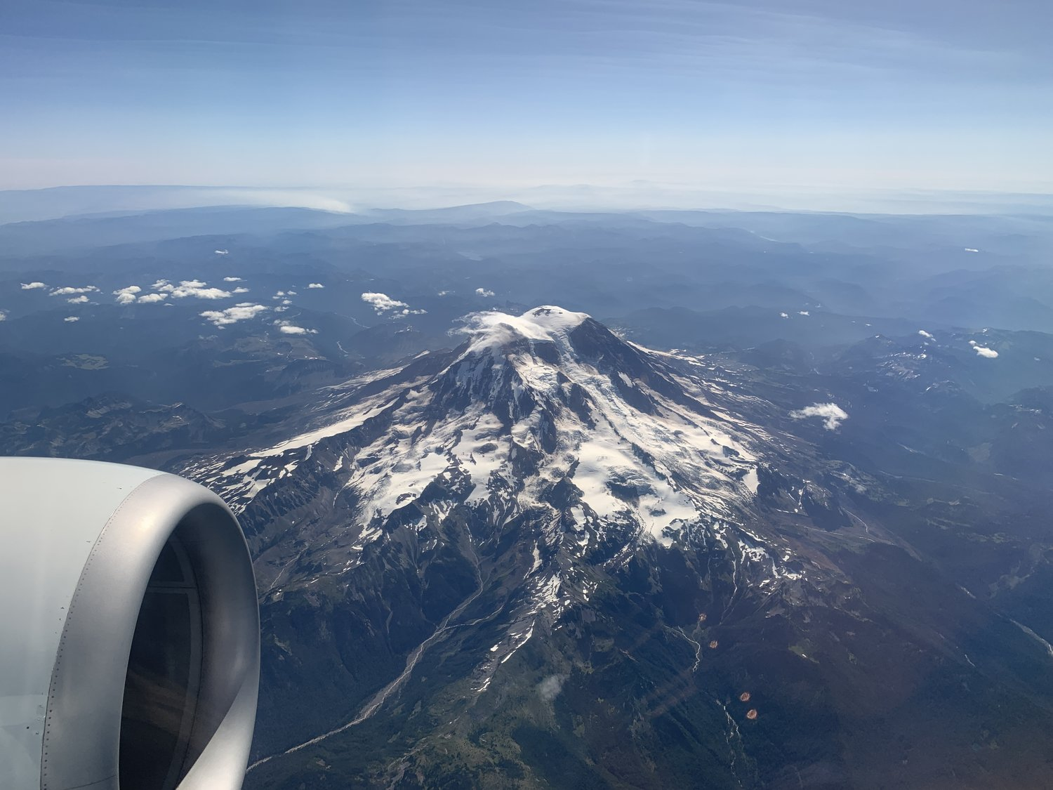 Flying Over Mount Rainier, Seattle, Washington