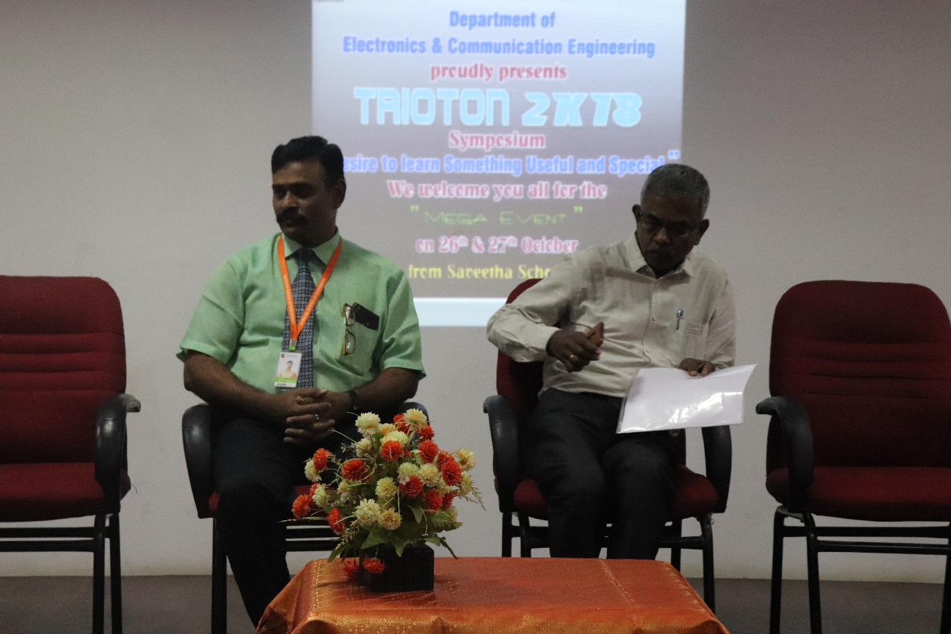CHIEF GUEST: Mr. D. Rajendran, Retd GM of HVF, AVADI
