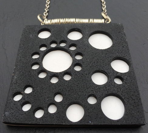Black and White Peace-out Pendant