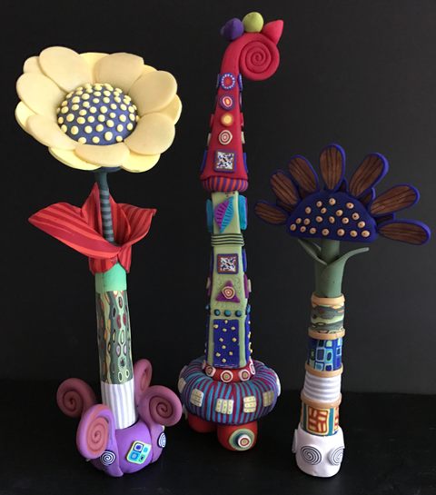 Whimsical Blooms and Tower