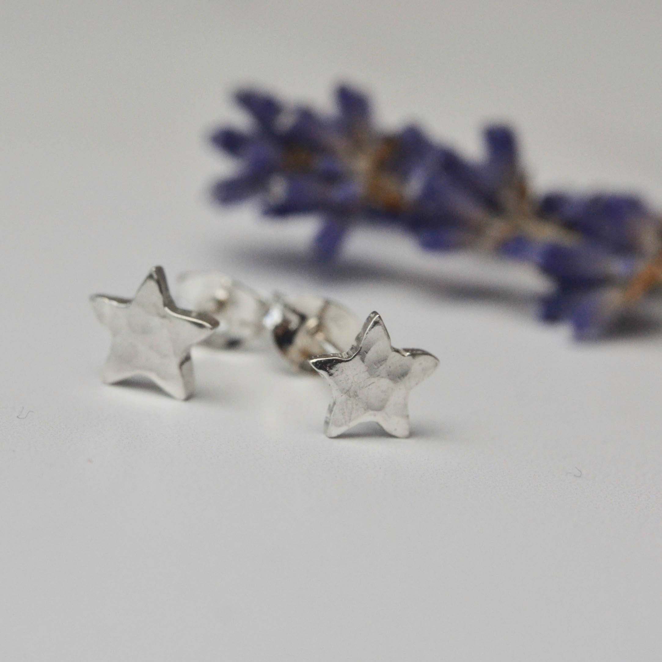 Teeny tiny silver star studs  These are the ones that I get my mum to make my friends for their birthdays. They're small enough to get away with wearing for school, but different to the usual earrings.