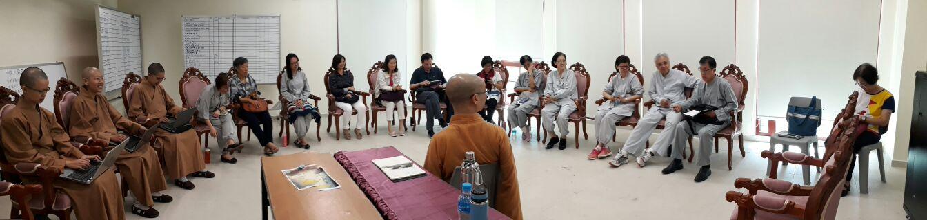 #BW Monastery Venerable Bensi led the Bhikkhuni Venerables and lecturers in discussing seminars and course development for the near future.  #吉祥宝聚寺本思法师带着比丘尼法师与讲师们商讨寺院未来讲座、课程的发展事宜。
